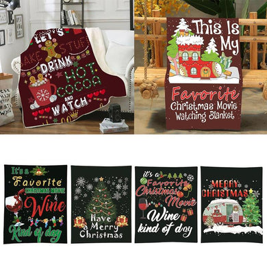Christmas Flannel Wrap Blankets/Throw Christmas Decor