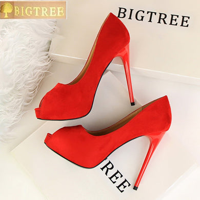 Women's Fashion Platform High Heel Shoes