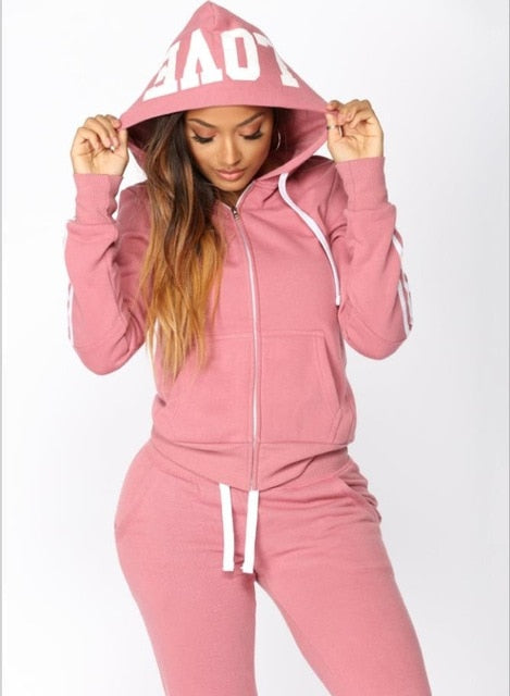 Women Two Piece Set Hoodies Pant Clothing n Ladies Tracksuit Set 2pcs Top Pants Suit