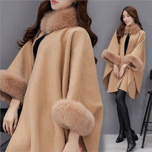 Load image into Gallery viewer, Women's long Cardigan Fashion Poncho Style Cape Coat