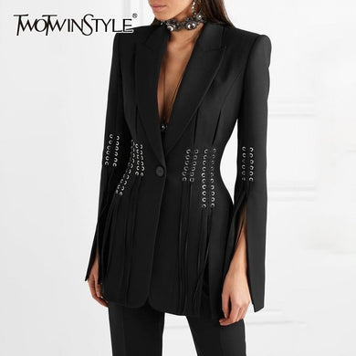 Women's Casual  Lapel Long Sleeve Slim Blazer