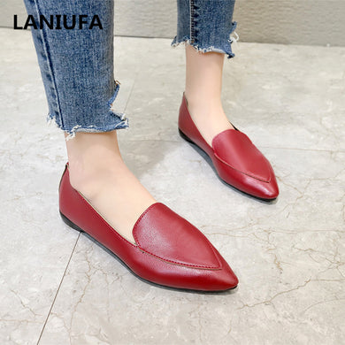 Women Casual Flat Slip On Oxfords Shoes