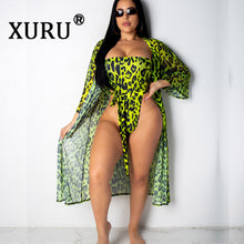 Load image into Gallery viewer, XURU 2019 New Summer Sexy One-piece Printed Leopard Swimsuit