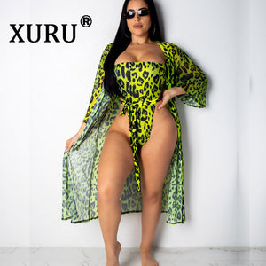 XURU 2019 New Summer Sexy One-piece Printed Leopard Swimsuit