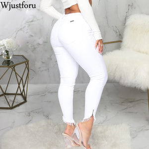 Women's Bodycon Casual Denim Pencil Pants