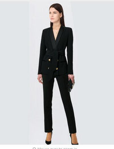 Women's Business Pant Suits Long-sleeve Blazer And Pants or Skirt Suit