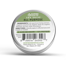 Load image into Gallery viewer, Empire Hemp Co. - All Purpose CBD Salve 1oz 400mg