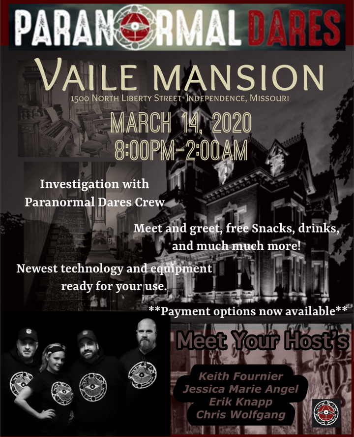 Ghost Hunt - Vaile Mansion - March 14th 2020