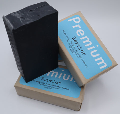Warrior - Peppermint and Tea Tree Activated Charcoal Bar