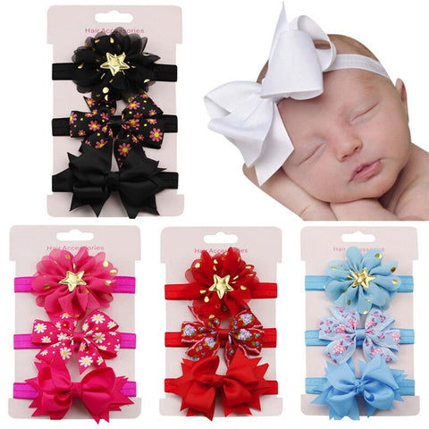 3Pcs Kids Elastic Floral Headband Hair baby Girls - Gianni&Guys Closet