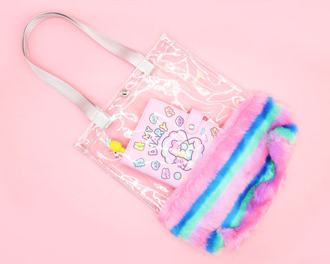 Plush Clear Unicorn Tote Bag - Gianni&Guys Closet