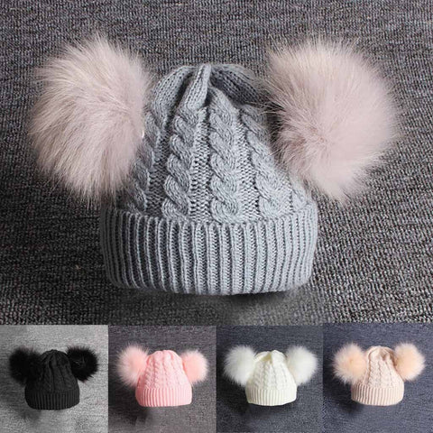 Baby Pom Pom Knitted Hat - Gianni&Guys Closet