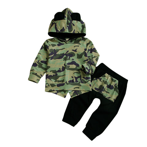 Boys Camo Hoodie Sets - Gianni&Guys Closet