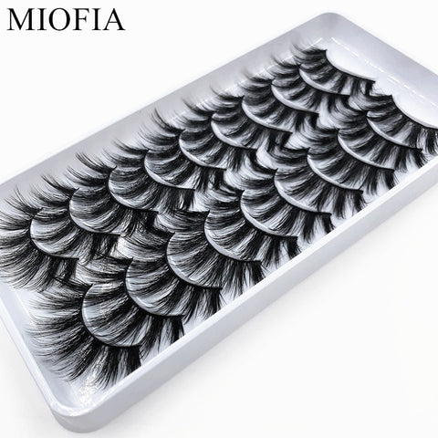 10 Pairs 3D Mink Lashes Wholesale - Gianni&Guys Closet
