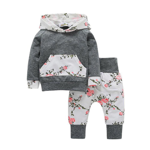 Girls Floral Hoodie Set - Gianni&Guys Closet