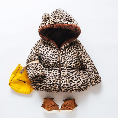 Girls Cute Ear Animal Print Coat - Gianni&Guys Closet