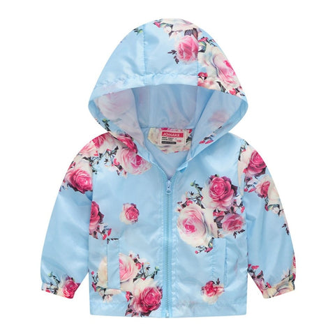 Toddler Kids Floral Hooded Jacket - Gianni&Guys Closet