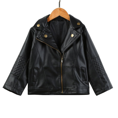 Kids Faux Leather Jacket - Gianni&Guys Closet