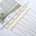 Wholesale 12pcs Old English Letter Necklaces - Gianni&Guys Closet