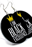 Black Excellence Hoops - Gianni&Guys Closet