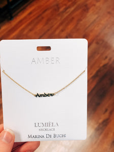 Name Necklaces—Letters A-C