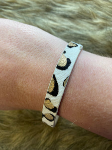 Leather Leopard Cuff