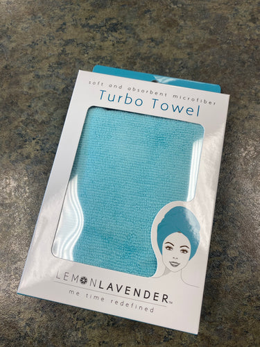 Real Teal microfiber hair towel