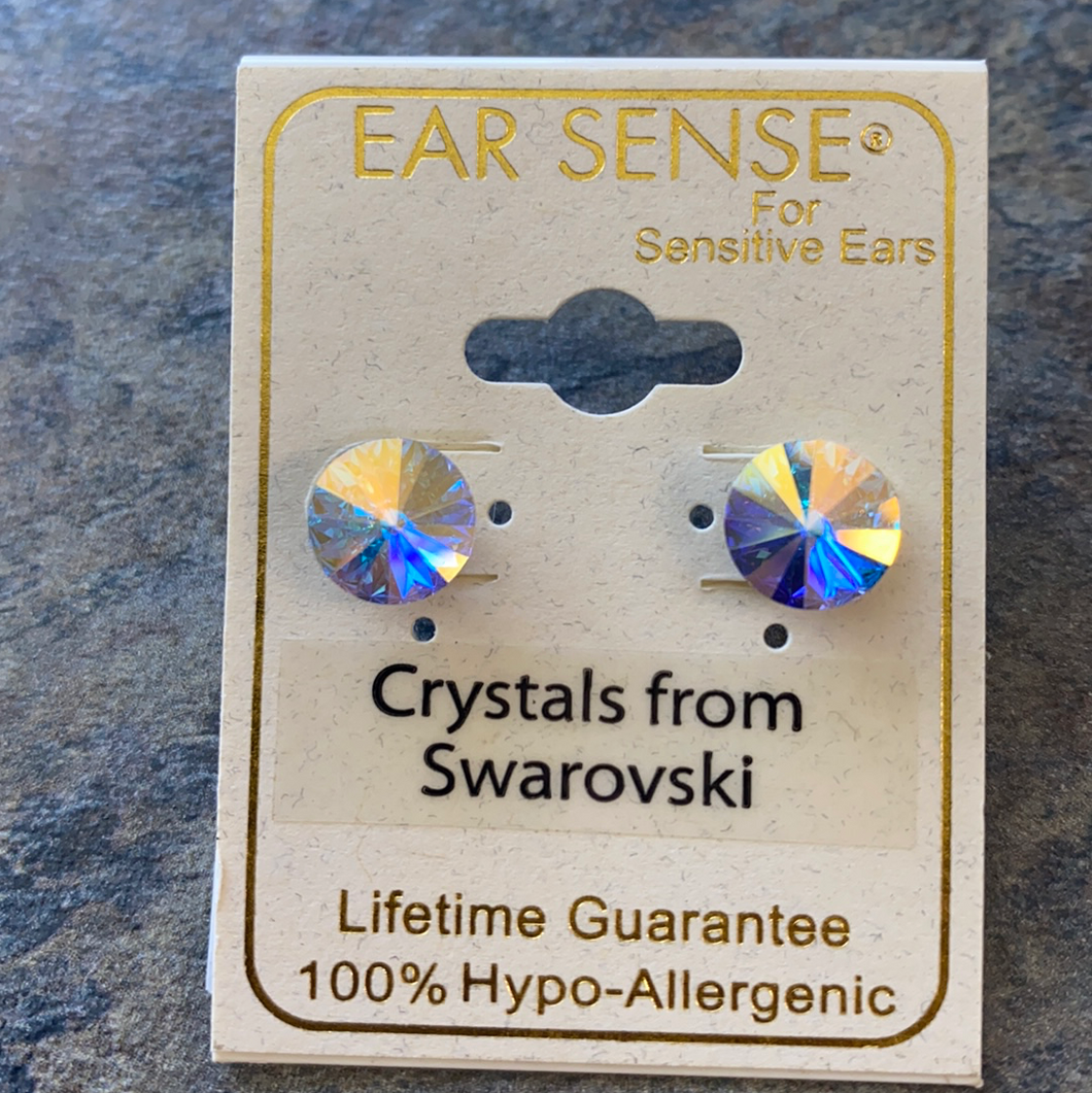 Iridescent Swarovski Stud Earrings