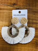 Load image into Gallery viewer, Circle Tassel Earrings