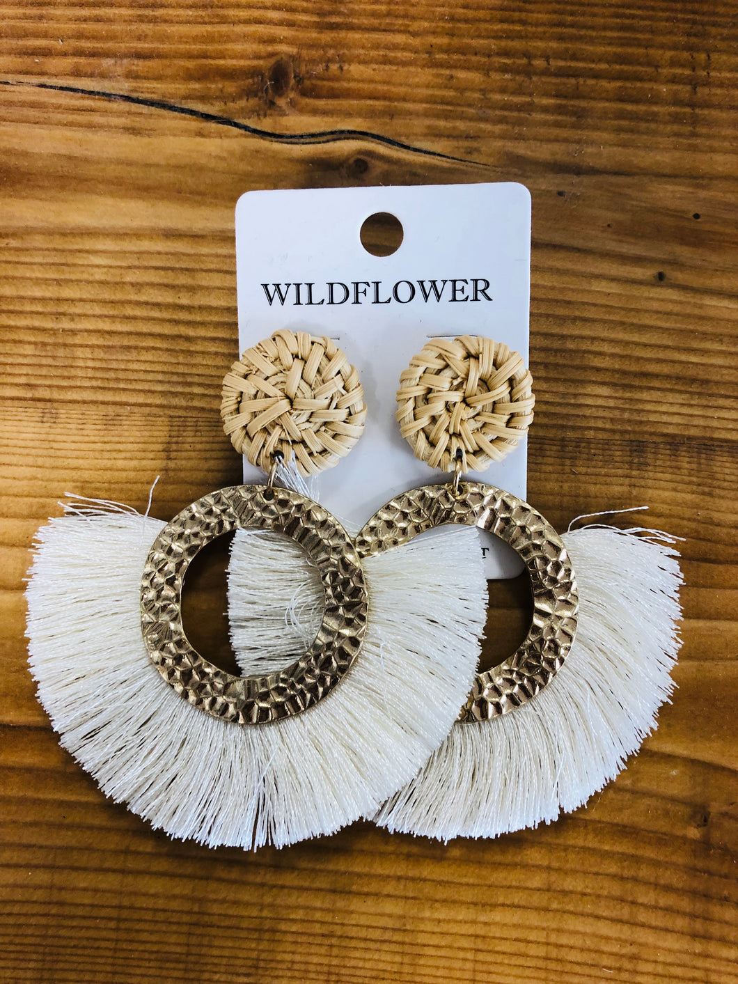 Circle Tassel Earrings