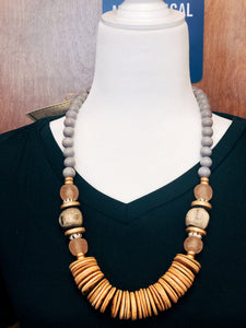 Tumbled Wood Necklace