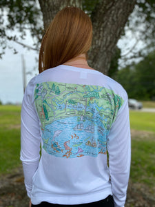 Go Coastal V-Neck Women's Long Sleeve