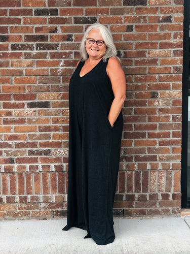 One Size Charcoal Jumpsuit