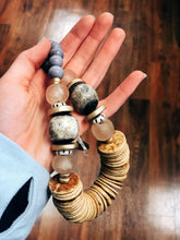 Load image into Gallery viewer, Tumbled Wood Necklace