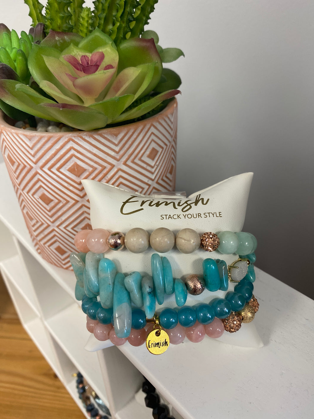 Pink & Teal stack