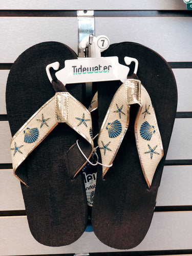 Tidewater Shell Sandals