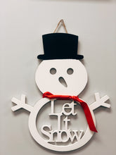 "Load image into Gallery viewer, Let it Snow"" Snowman Wall Art"