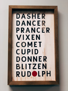 Reindeer Name Art