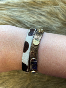 Leather Double Cuff