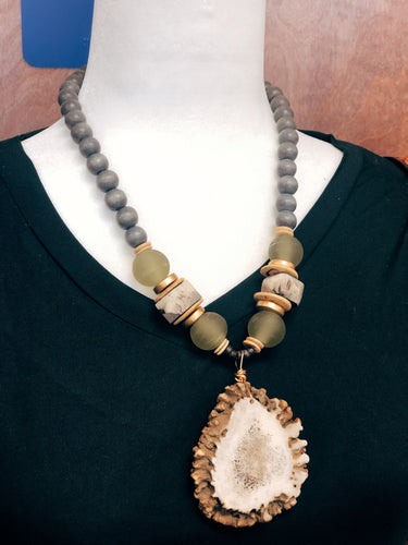 Elk Burr Necklace