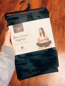 Fleece Lined Leggings—Camouflage