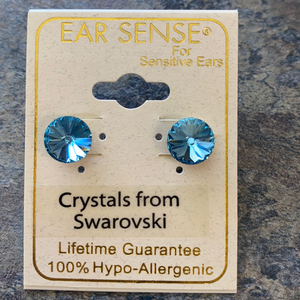 Blue Swarovski Stud Earrings
