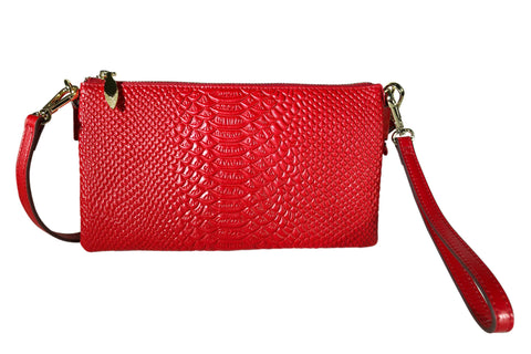 Carly Leather Clutch - Jon Louis
