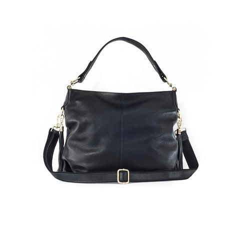 Audrey Leather Shoulder Bag with Tassles