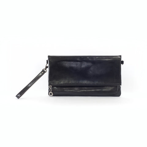 Caitlyn Leather Fold Over Clutch - Jon Louis