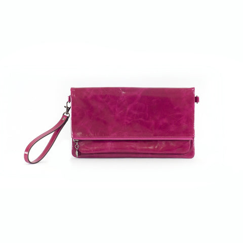 Caitlyn Leather Fold Over Clutch