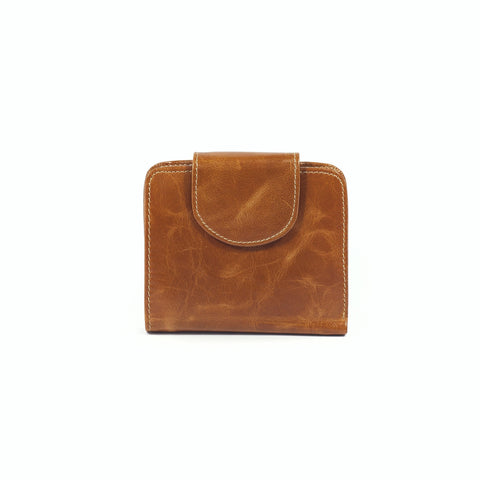 Wanda Fold Over Leather Wallet