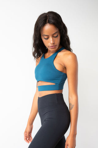Aliza High Neck Top Recycled - Lunalae Active Collection