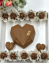 Load image into Gallery viewer, Chocolate heart box with flowers