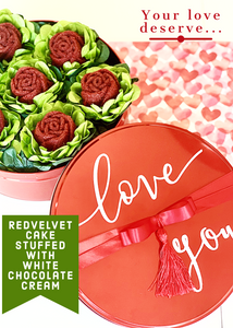Valentines roses gift box